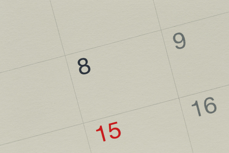 Number eight of Vintage Calendar Paper background and have copy space for design concept in your work.