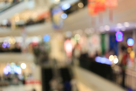 Blurred shopping mall or indistinct department store for the design background. Stock Photo