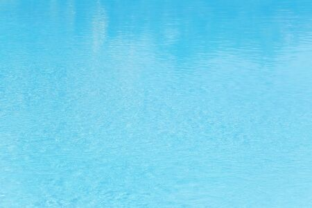 Surface of the water in the pool,Bright blue water background.