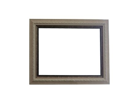Vintage photo frame isolated on white background and have clipping paths.