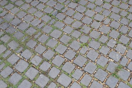 Stone brick walkway flooring background for design in your work. Stockfoto