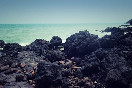 Sea rocks and coasts in Chonburi,Coral reef islands in Thailand.