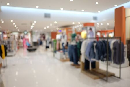Abstract blur interior background or defocused shopping mall of department store for design in your work backdrop concept.