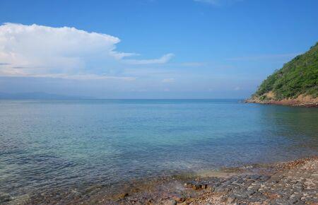 Daytime seaside view in Thailand,Chong Samaesarn is a popular tourist destination.