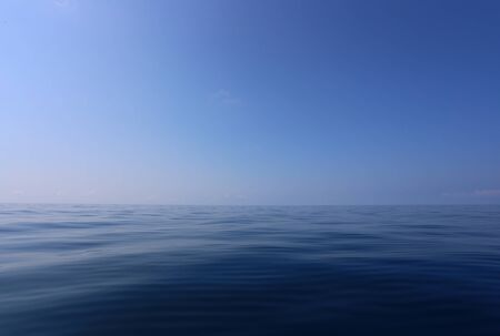 Blue sky and sea view in beauty of the landscape,A sea in Chonburi province of Thailand.