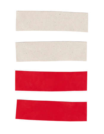 Rectangle shape of art paper isolated on white background for design in your work.