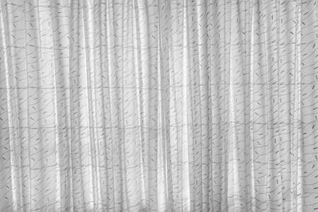 Black and white curtains for a background design. Foto de archivo