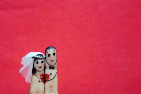 Finger Wedding Stock Photo