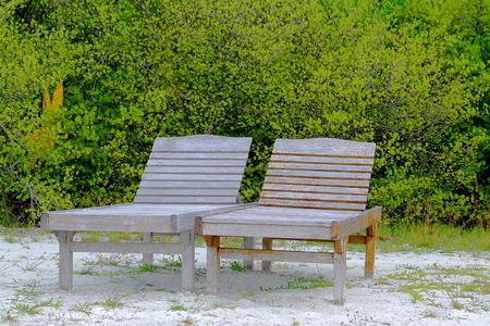 beach chairs: Beach Chairs Stock Photo