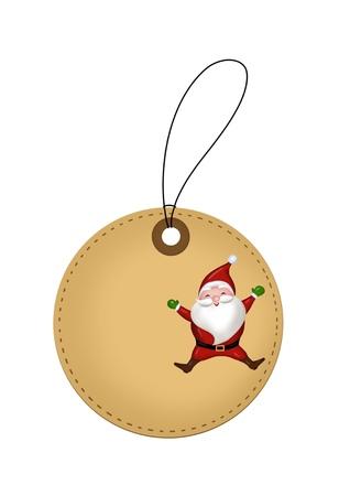 Christmas Santa Claus tag Illustration