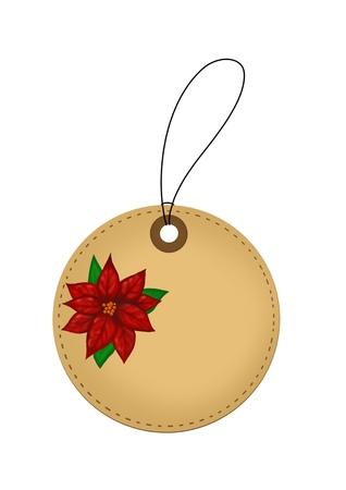Christmas flower tag Illustration