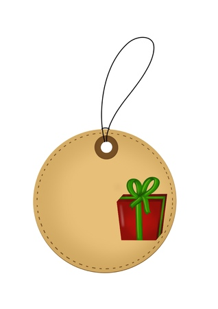 Christmas gift tag Illustration