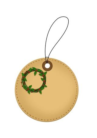 Christmas Wreath tag