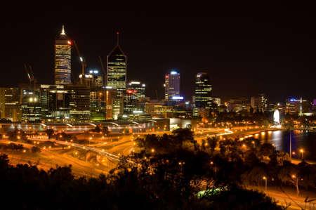 Perth Nightscape Stock Photo