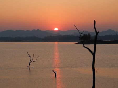 kanchanaburi: Sunset at Kanchanaburi Stock Photo