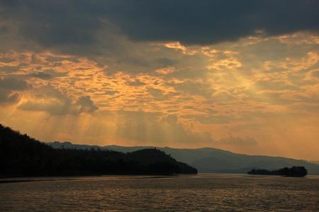 golden  gleam: Sunset on lake