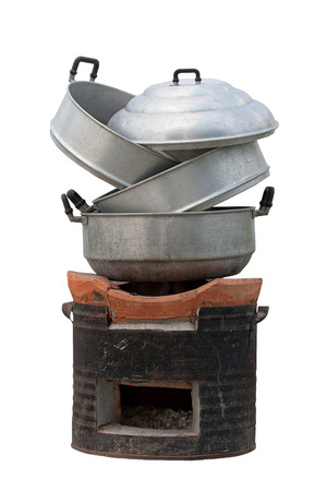 steaming: steaming plate with stove