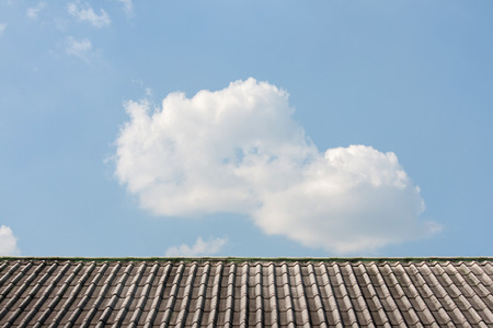 housetop: housetop with sky