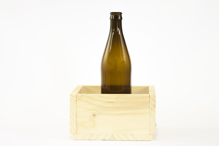 carboy: bottle in wooden box