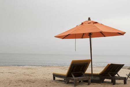 sea bed: beach umbrella and sea bed
