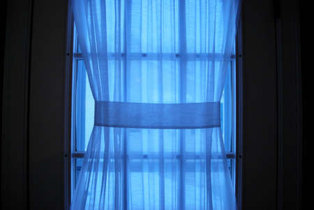 window shades: Sheer Curtain with Blue Light