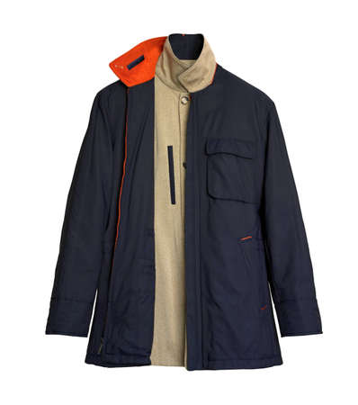 2 Sided Navy and Begie Men s Coat