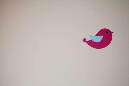 핑크 조류 벽화