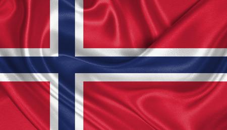 norway flag: Flag of Norway Stock Photo