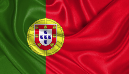 portugal: Flag of Portugal Stock Photo