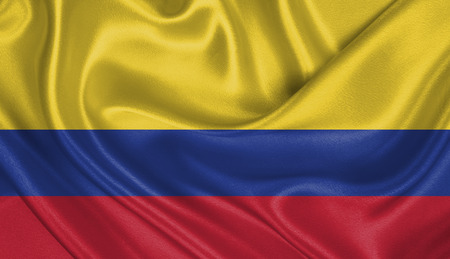 republic of colombia: Flag of Colombia Stock Photo