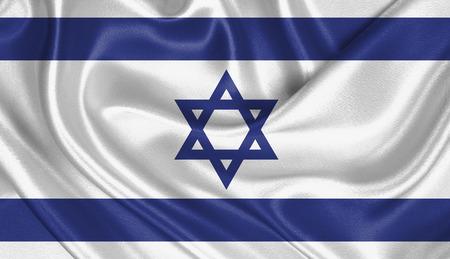 israelite: Flag of Israel Stock Photo