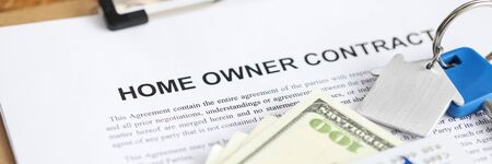 Filling out document that says home owner contract. Obligatory return property to lessor upon expiration contract. Payment for use leased property. Contract price taking into account its indexation Stock fotó - 143772858