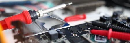 Repair tools are on the electronic device. Diagnostics of a malfunction. Manual assembly and repair of the mechanism
