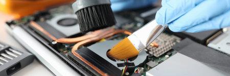 Computer hard drive repair and maintenance concept