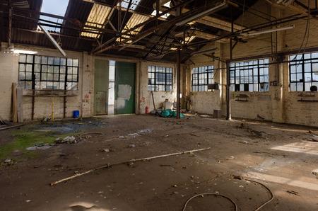 derelict: Panorama of derelict warehouse