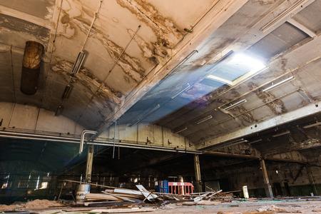 lightbeam: Lightbeam shines into derelict warehouse