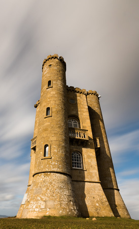 broadway tower: Wide angle view of Broadway Tower in the Cotswolds with ND Filter
