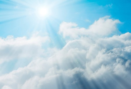 luminescence: Clouds and sunshine Stock Photo