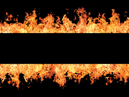 smolder: Black stripe and fire flames on edges