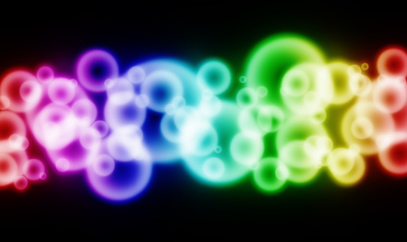lensflare: Abstract varicolored bluring lights on black background Stock Photo