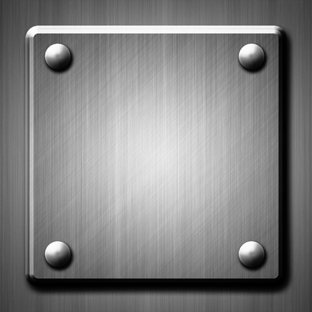 rivets: Brushed metal surface effect background with four rivets