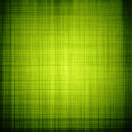 Green textured background with fibers and vignette Stock Photo
