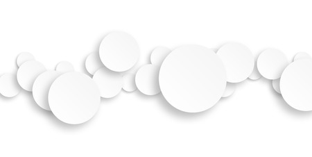 rounds: White rounds on white background (contemporary concept)