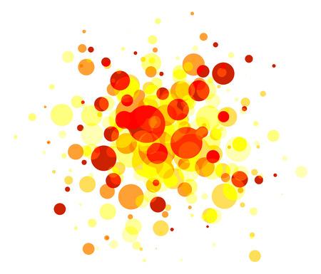 raster: Abstract round background on white (raster illustration)
