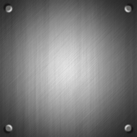 ironworks: Brushed metal surface effect background with four rivets