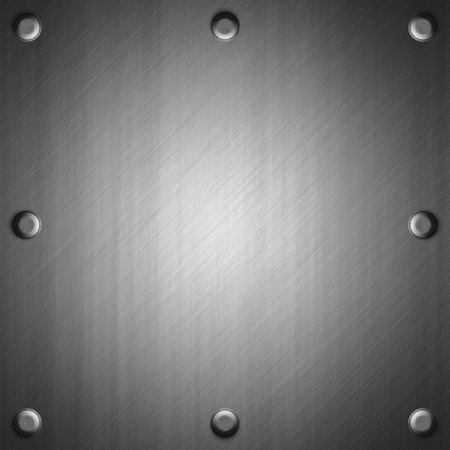 ironworks: Brushed metal surface effect background with eight rivets