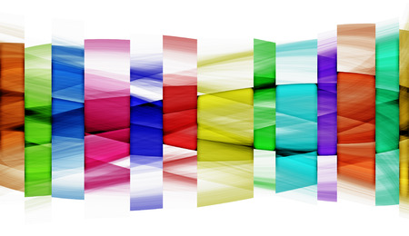 coloured: Original abstraction of coloured segments on white