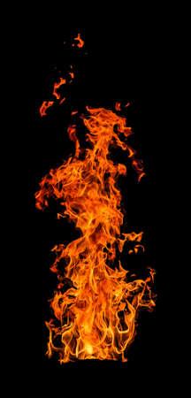 Closeup of blazing campfire in the night 版權商用圖片