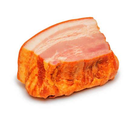 Pork brisket isolated on white background