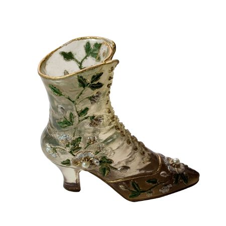 souvenirs: miniature boots, decorated with leaf and beads (miniatures) Series